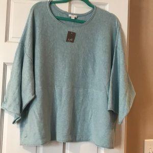 J. Jill purejill Kimono sweater heather glacier. M